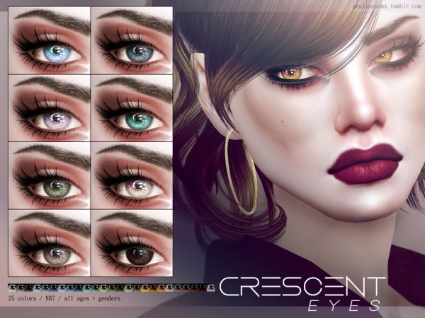 The Sims Resource: Crescent Eyes N87 by Pralinesims