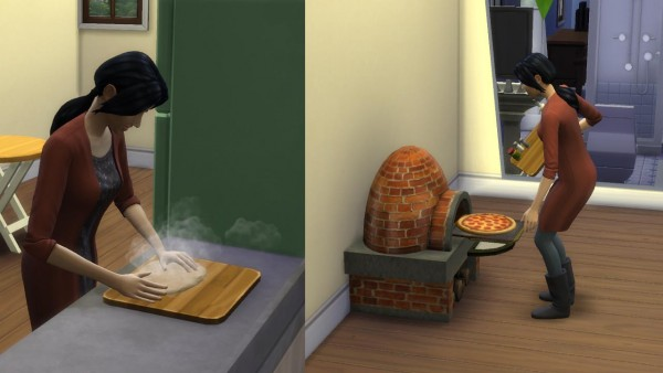 Mod The Sims Rustic Clay Pizza Oven With Pizza Recipes