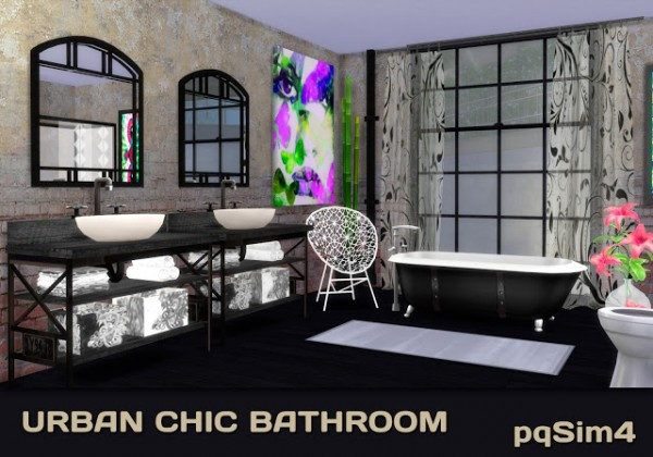 PQSims4: Urban Chic Bathroom