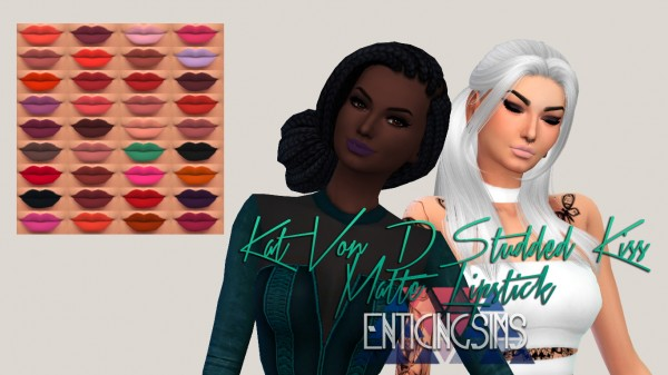 Simsworkshop: Studded Kiss Matte Lipstick by EnticingSims