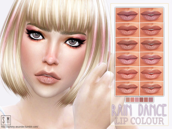 The Sims Resource: Rain Dance   Dry Lip Colourby Screaming Mustard