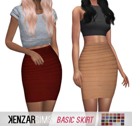 Kenzar Sims Basic Skirts Sims 4 Downloads