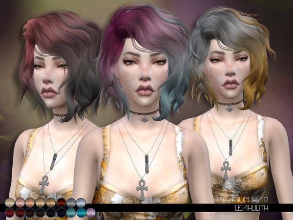 The Sims Resource: Titanium Hair by LeahLillith