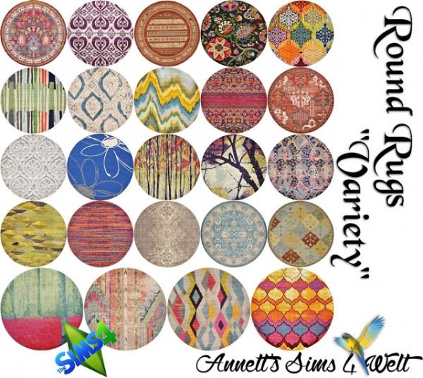 Annett`s Sims 4 Welt: Round Rugs Variety
