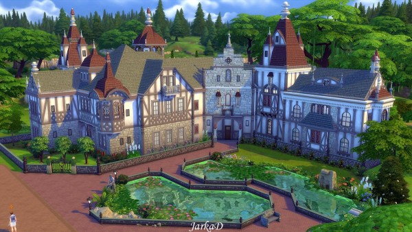 JarkaD Sims 4: Lakeside Mansion