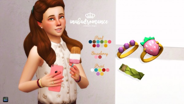 In a bad romance: Child rings • Sims 4 Downloads