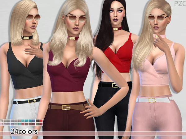 The Sims Resource: Elegant Cut Summer Top by Pinkzombiecupcake