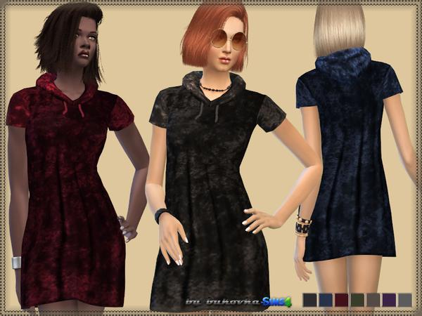 The Sims Resource: Velvet Dress & Hood by bukovka