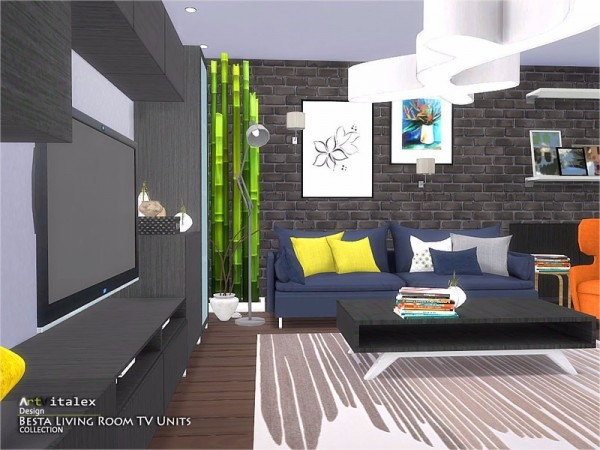 The Sims Resource Besta Livingroom Tv Units By Artvitalex