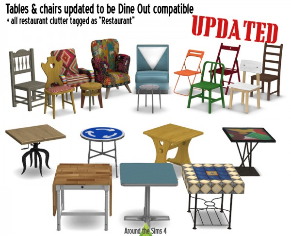 Around The Sims 4 Tables And Chairs Sims 4 Downloads