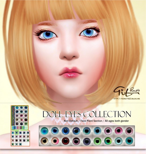 Tifa Sims Doll Eyes Collection Sims 4 Downloads