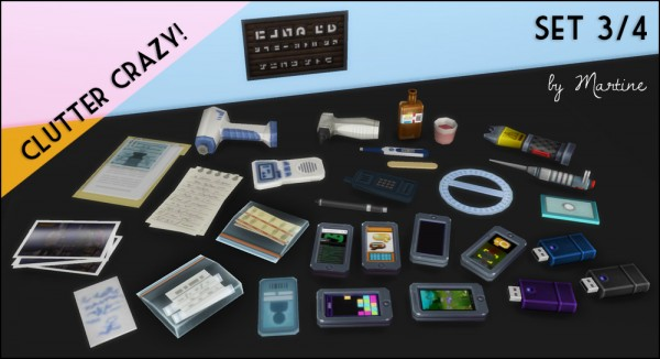 clutter sims martine simblr objects martinessimblr sims4updates