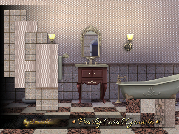 The Sims Resource: Pearly Coral Granite by emerald