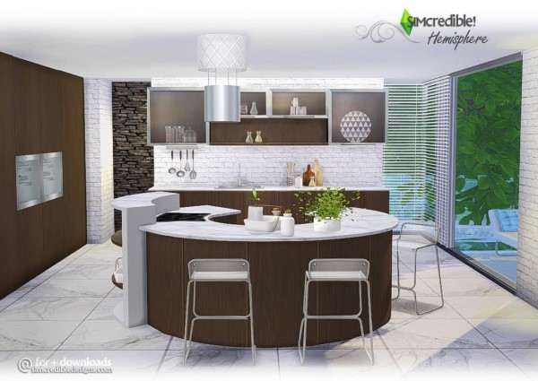 4 Brilliant Kitchen Remodel Ideas: SIMcredible Designs: Hemisphere Kitchen • Sims 4 Downloads