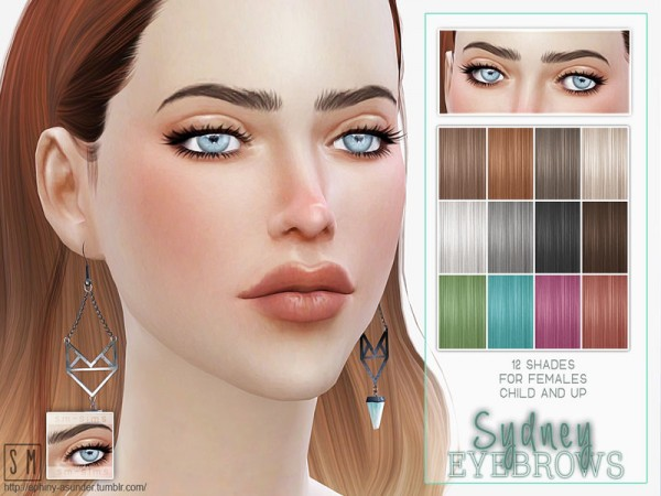 The Sims Resource: Sydney    Female Brows by Screaming Mustard