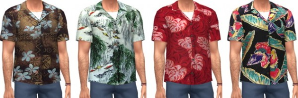 Marvin Sims Aloha Shirts Sims 4 Downloads
