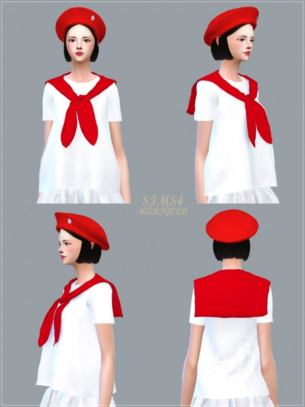 Sims4 Marigold Sailor Scarf Top Sims 4 Downloads