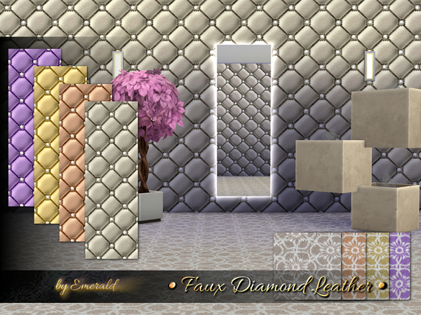 The Sims Resource: Faux Diamond Leather