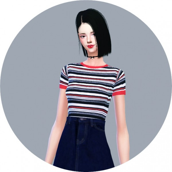 Sims4 Marigold Tight Short Sleeve Top Sims 4 Downloads