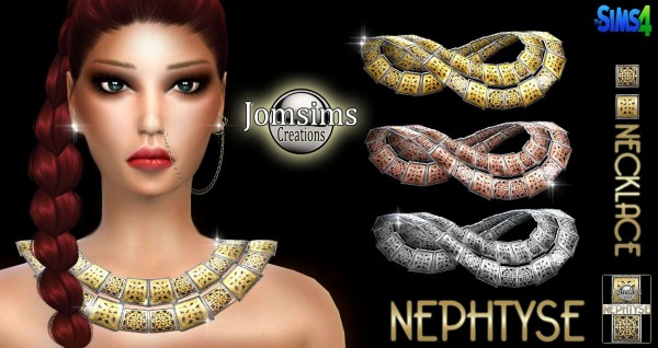 Jom Sims Creations: Nephtyse necklace