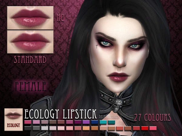 The Sims Resource: Ecology Lipstick by RemusSirion
