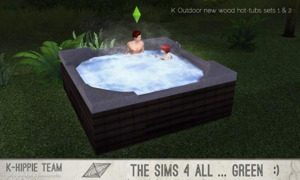 Simsworkshop: Outdoor 14 Hot Tubs by k hippie
