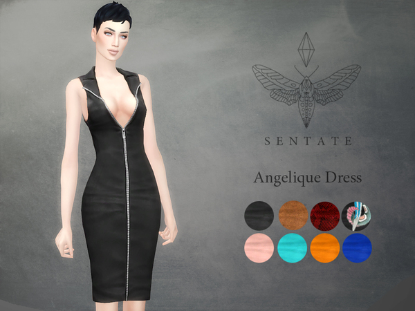 The Sims Resource: Angelique Dress by Sentate