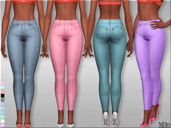 Sims Addictions: High Waist Skinny Jeans