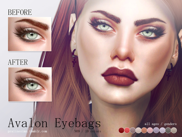The Sims Resource: Avalon Eyebags N09 by Pralinesims