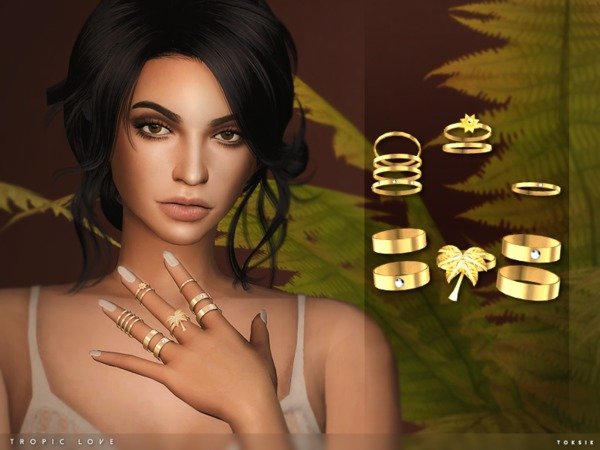 The Sims Resource: Tropic Love Rings by toksik