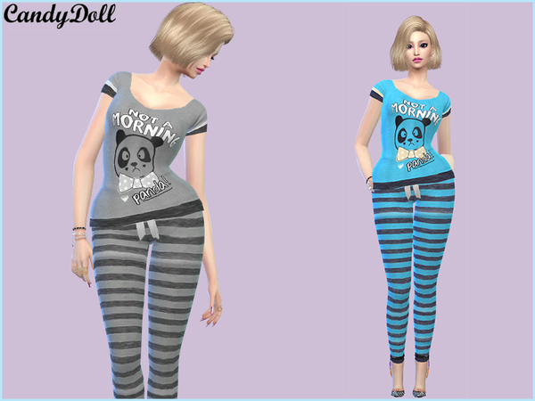 The Sims Resource: CandyDoll Sleepy Panda Set by DivaDelic06
