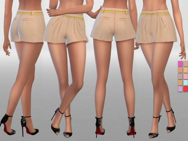 The Sims Resource: Summer Shorts With Belt by Pinkzombiecupcakes