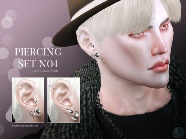 The Sims Resource: Piercing Set N04 by Pralinesims