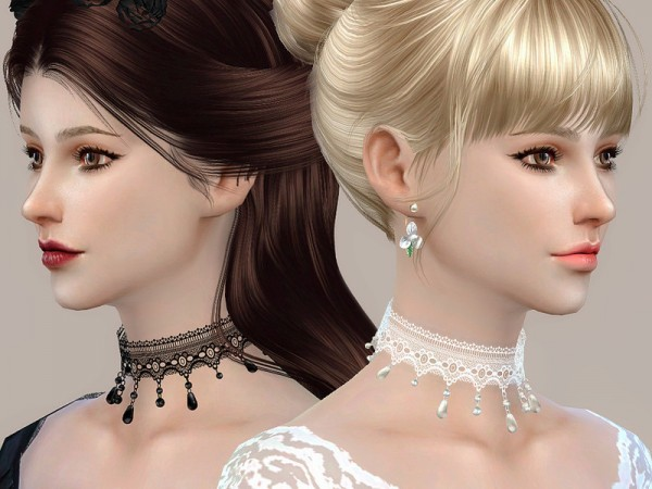 The Sims Resource: Lace collar 08 by S Club