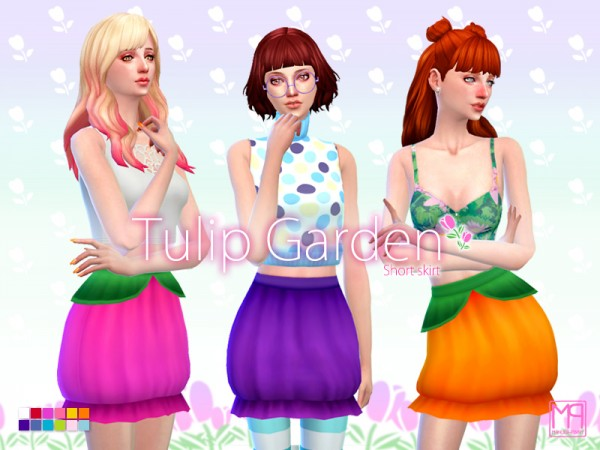 The Sims Resource: Tulip garden set by ManueaPinny