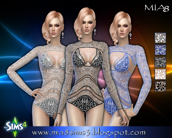 MIA8: Womens corset, bathing suit and bodysuit