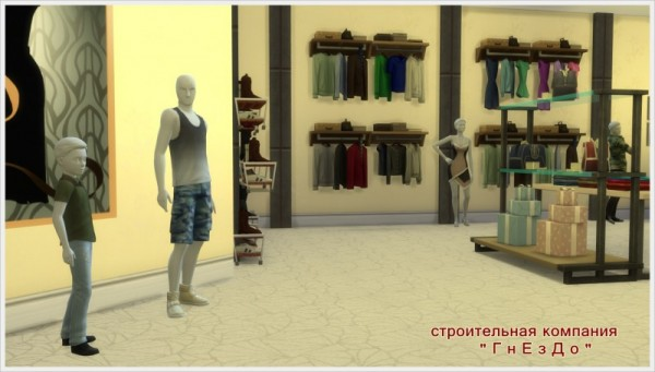 Sims 3 by Mulena: OSTIN clothing store