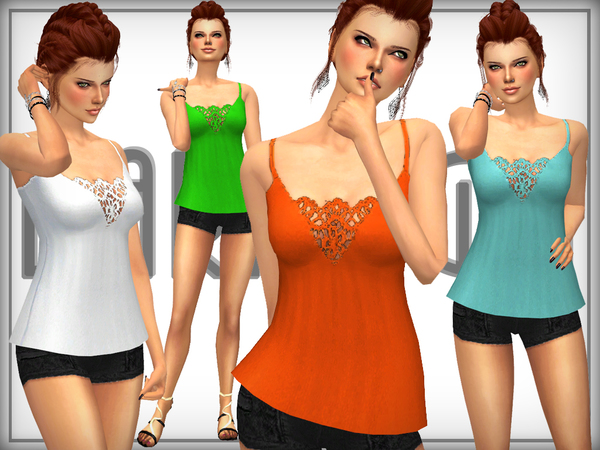 The Sims Resource: Silk Stretch  Jersey Top by DarkNighTt