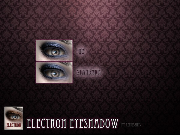 The Sims Resource: Electron eyeshadow by RemusSirion