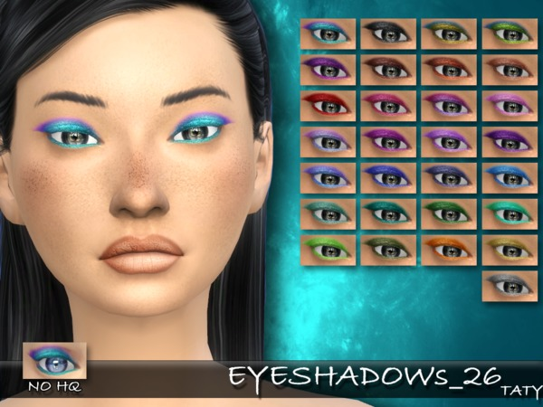 The Sims Resource: Eyeshadows 26 by Taty