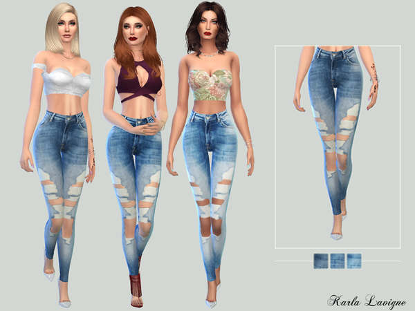 The Sims Resource: Andy jeans by Karla Lavigne • Sims 4 Downloads