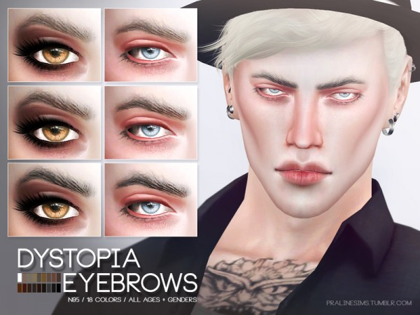 The Sims Resource: Dystopia Eyebrows N95 by Pralinesims