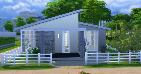 Caeley sims small house sims 4 downloads for Small starter homes