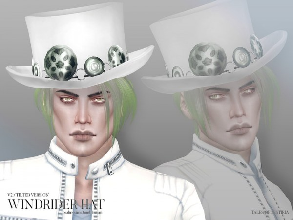 The Sims Resource: Windrider Hat by Pralinesims