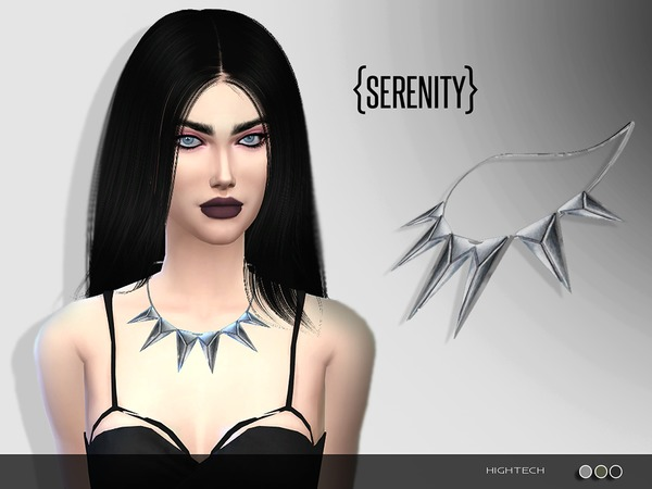 The Sims Resource: Hightech Necklace by Serenity cc