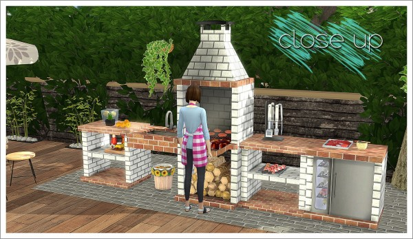 Sims 4 Designs: Mensure BBQ Outdoor Kitchen Set