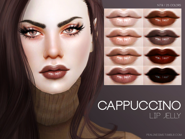 The Sims Resource: Cappuccino Lip Jelly N79 by Pralinesims