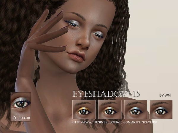 The Sims Resource: Eyeshadow 15 by S Club