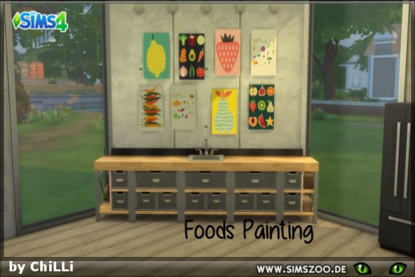 Blackys Sims 4 Zoo: Paintings Foods 1 by ChiLLi