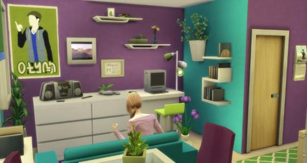 Blackys Sims 4 Zoo: Modern starter house 01 by  SimsAtelier